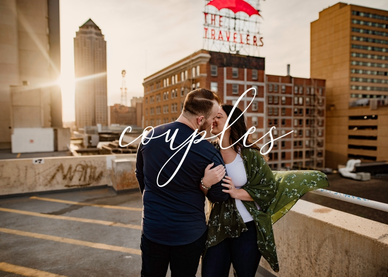 Des Moines Engagement Session Title page